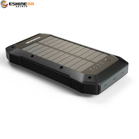 15000mah solar power bank with camping light and warning light