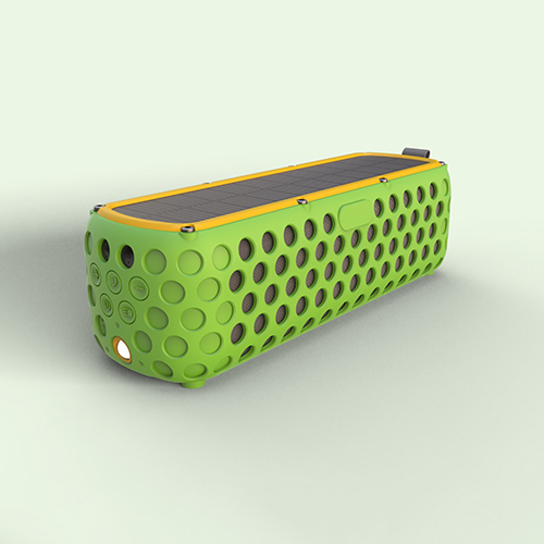 ES-T60 Outdoors wireless Solar bluetooth speaker with 2400mah battery for 30hours play