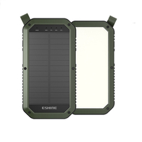 LED camping light solar power bank